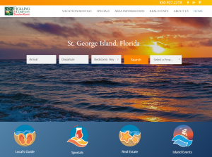 Fickling Vacation Rentals Website Preview